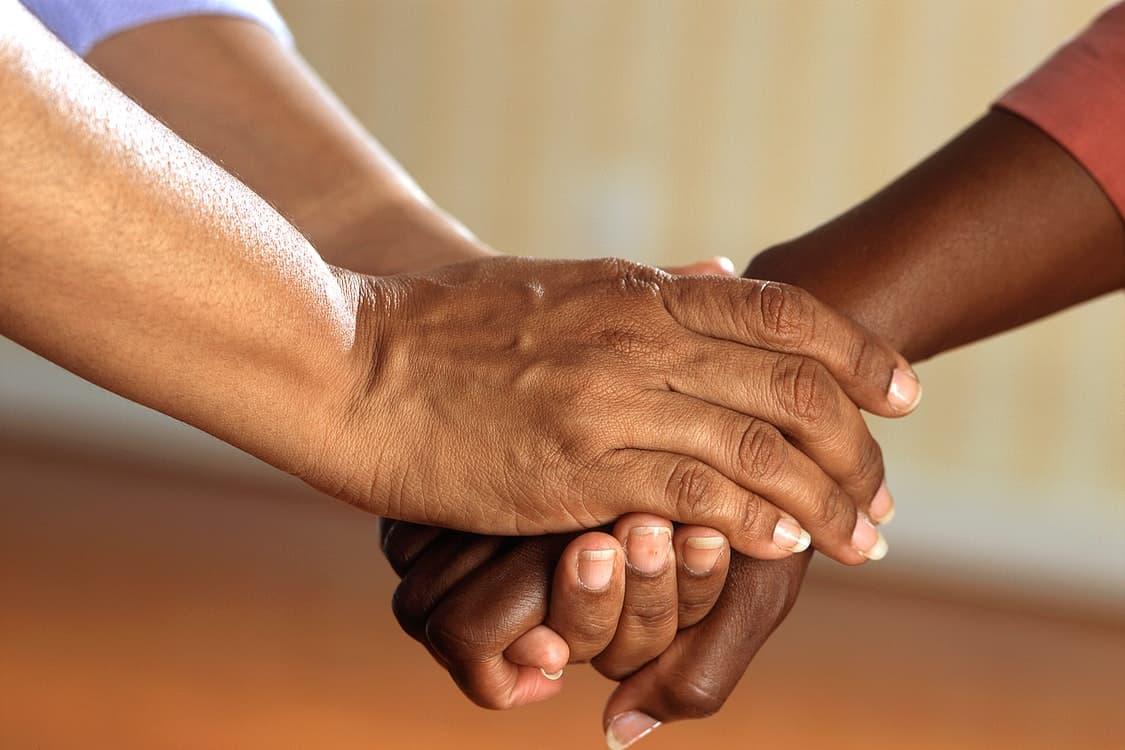 extending hand help