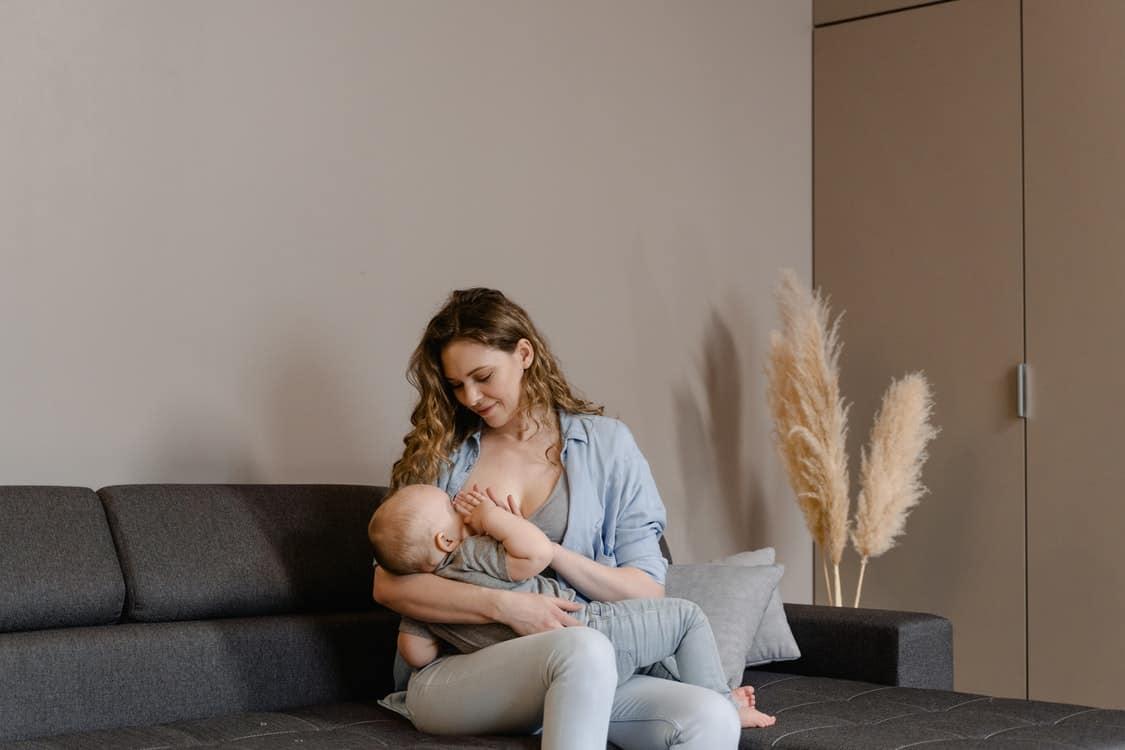 chubby baby breastfeeding