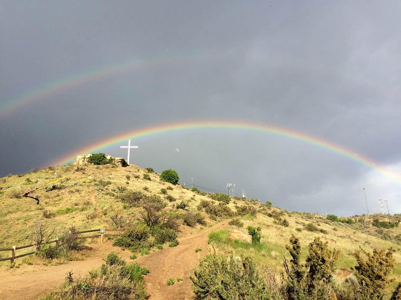 double rainbow cross